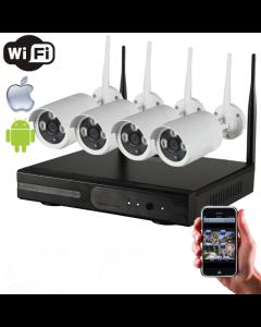 4CH Kamera System - 960p Wi-Fi
